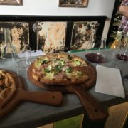 Gourmet Pizzas hot from the Wood Oven